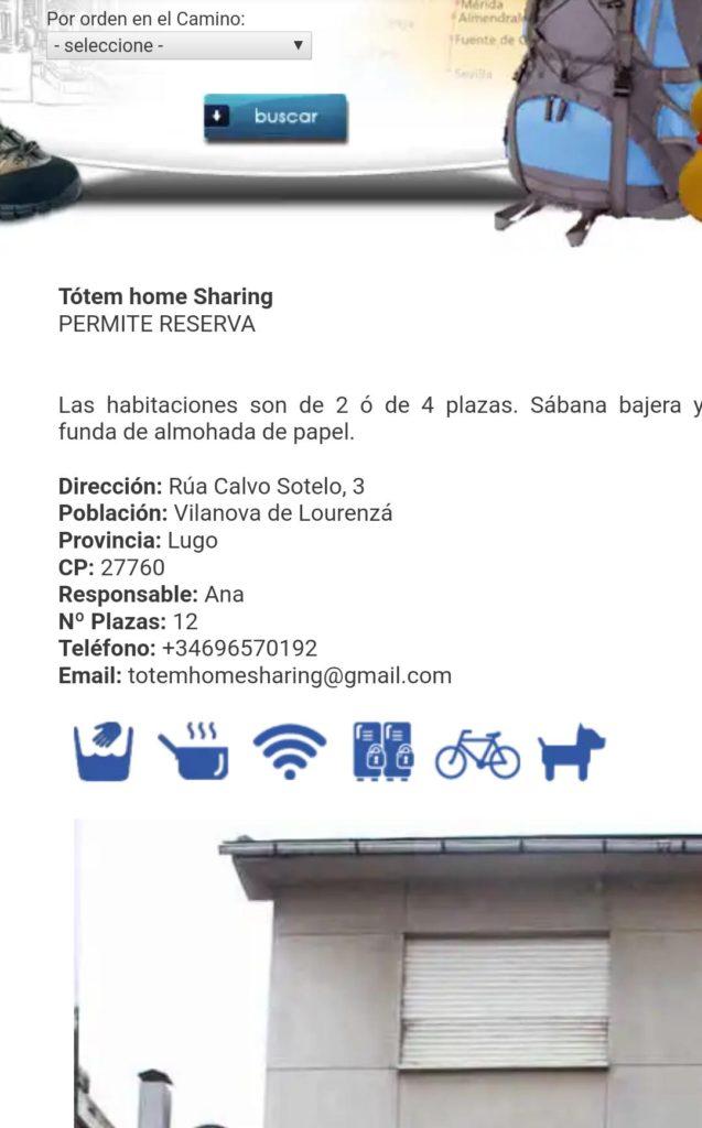 Alojamientos Camino de Santiago